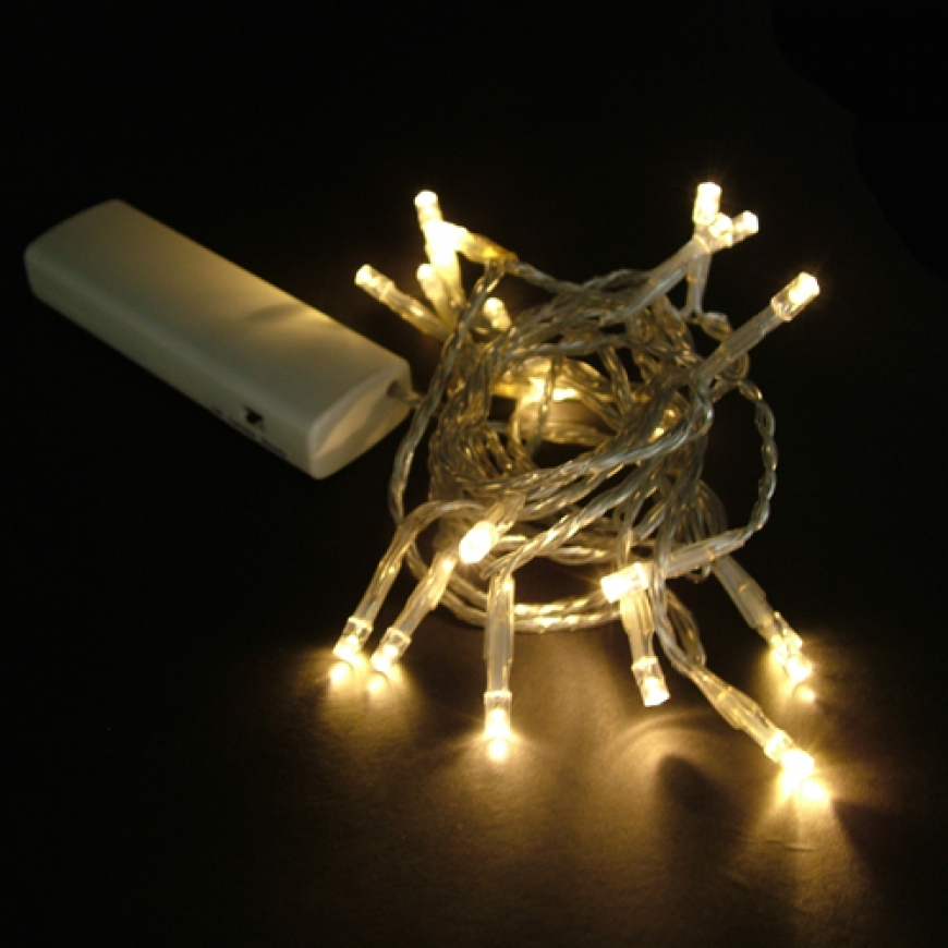 AA battery operated led string light(Warm White)-5MM Concave Led string lights-Floralyte ...